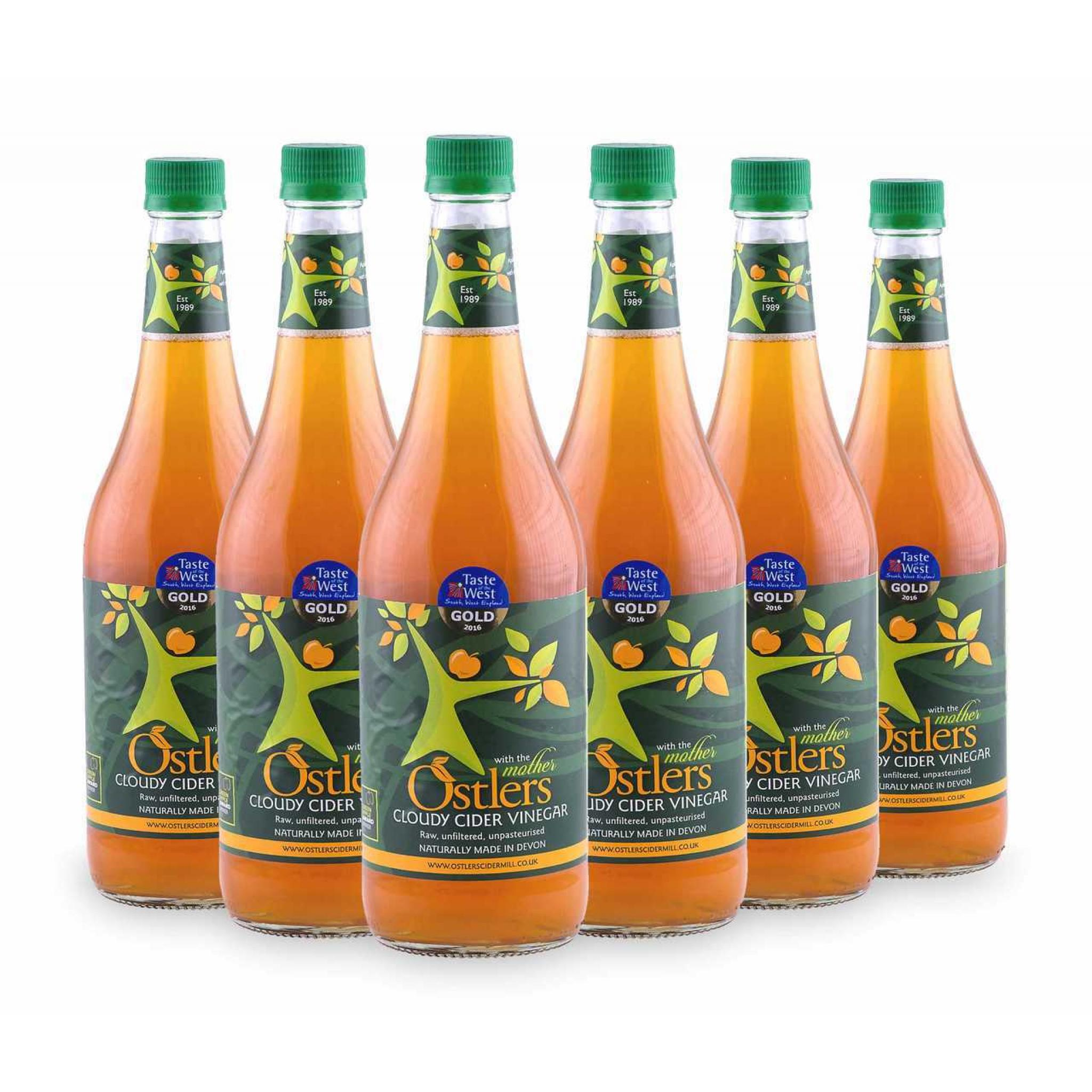 Ostlers - 6x Cloudy Apple Cider Vinegar with Mother 750ml Glass bottle