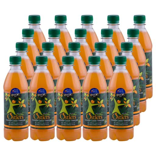 Ostlers - 20 x Cloudy Apple Cider Vinegar with Mother 500ml bottle