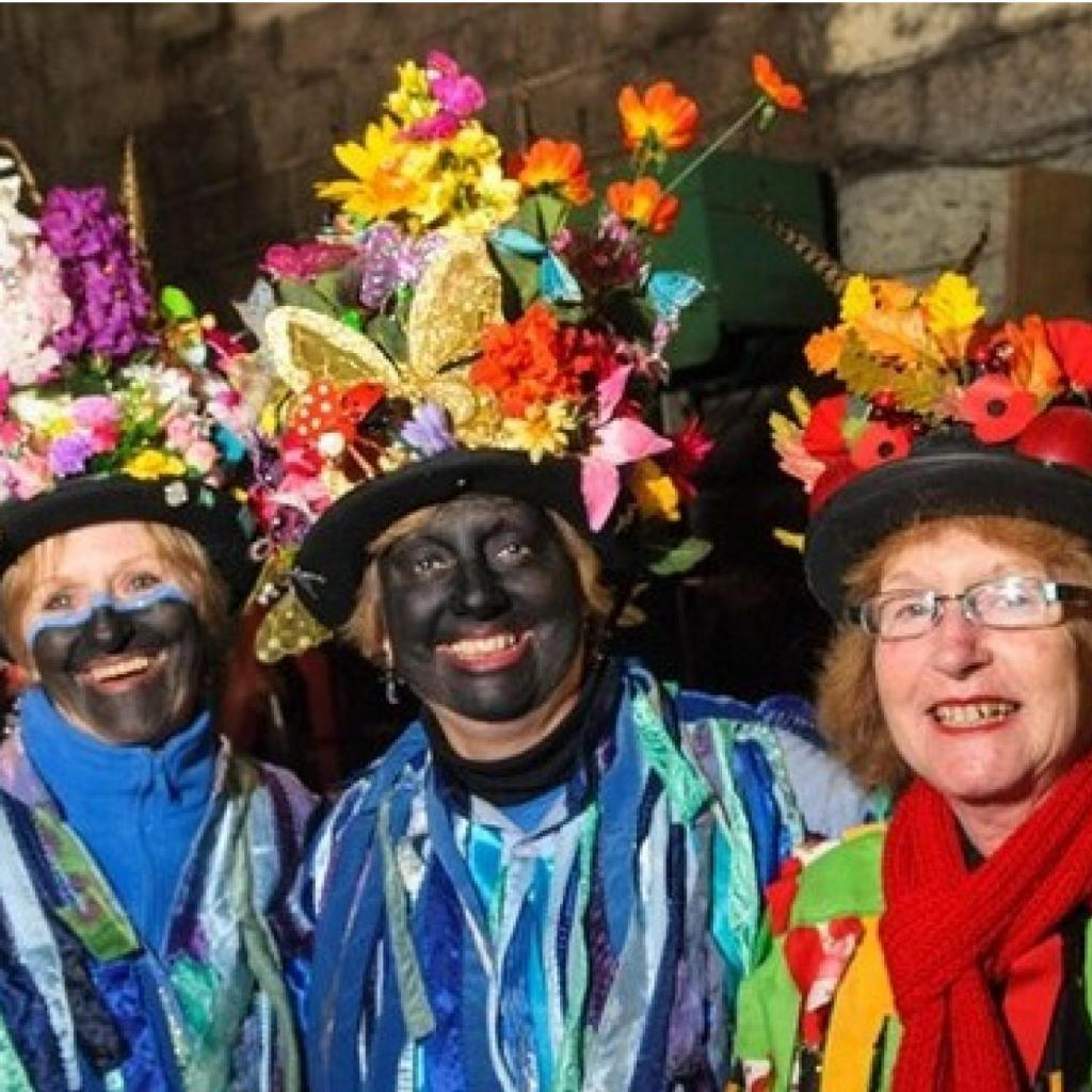 Ostlers Cider Mill's annual 2015 wassail near Goodleigh